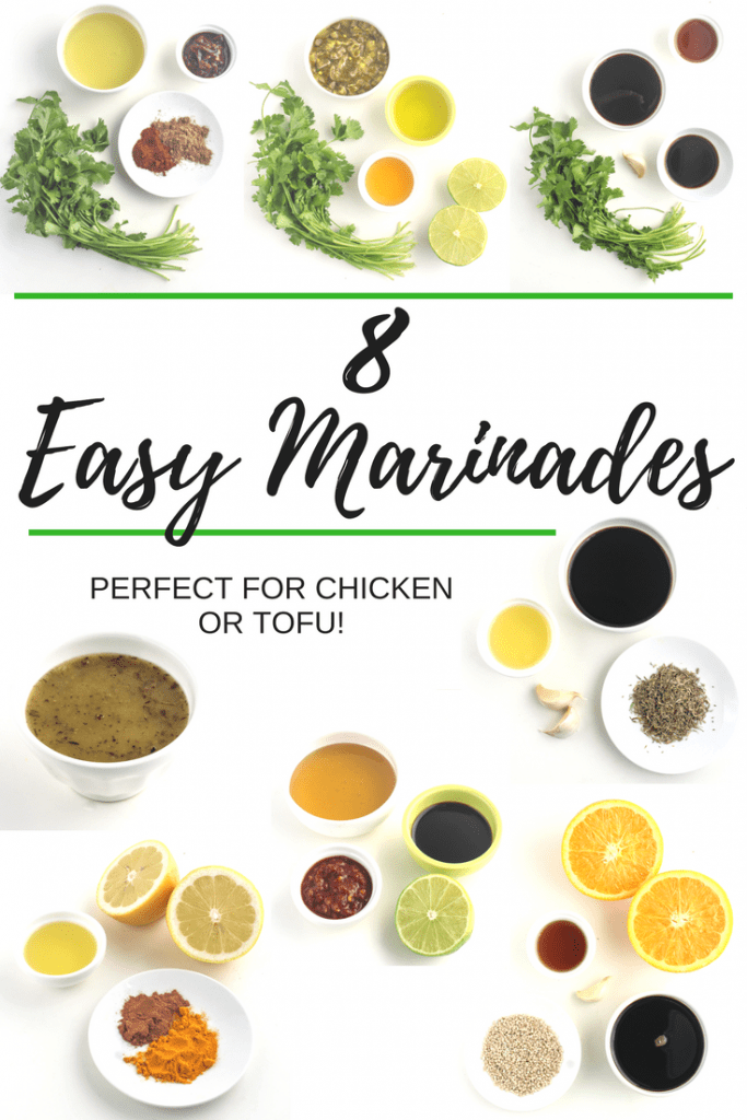 These 8 Easy Marinade Recipes are perfect for chicken and tofu. Check out all the marinade recipes and ideas at fannetasticfood.com!