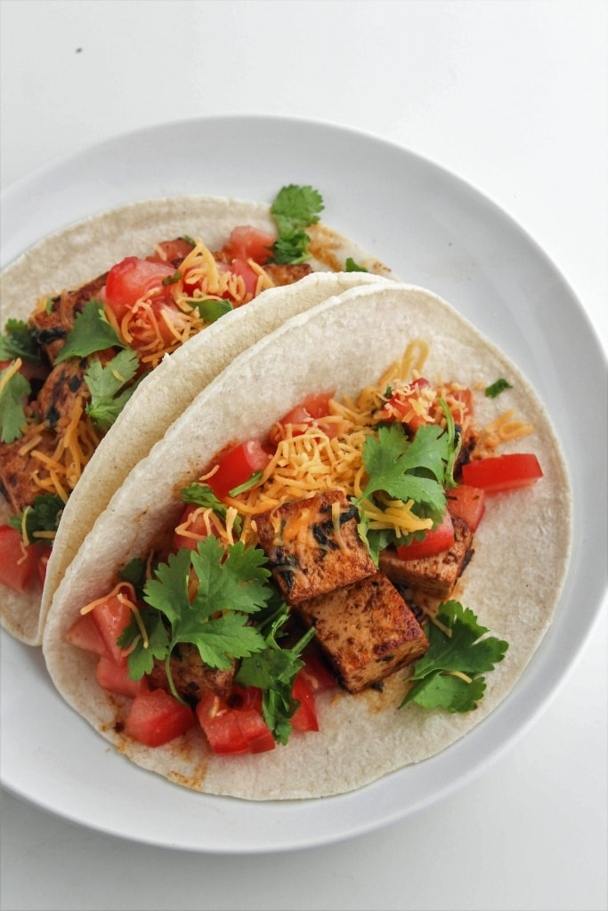 These Chipotle Cilantro Tofu Tacos are perfect for an easy weeknight dinner. Check out more easy marinade recipes and ideas at fannetasticfod.com!
