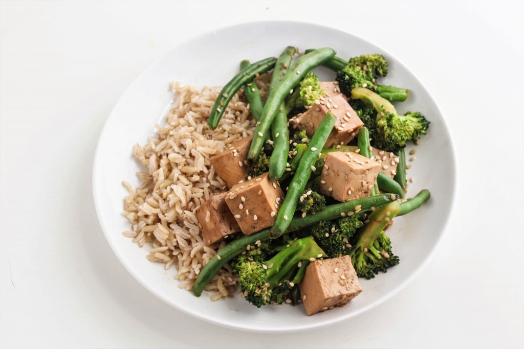 This Teriyaki Tofu Stir Fry is perfect for an easy weeknight dinner. Check out more easy marinade recipes at fannetasticfood.com!
