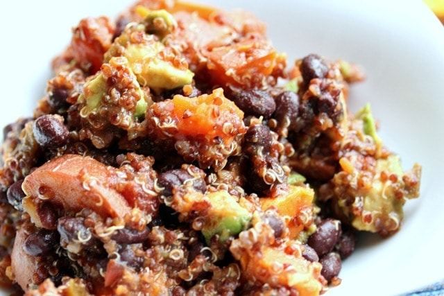 sweet potato black bean quinoa salad ingredients sweet potatoes quinoa ...