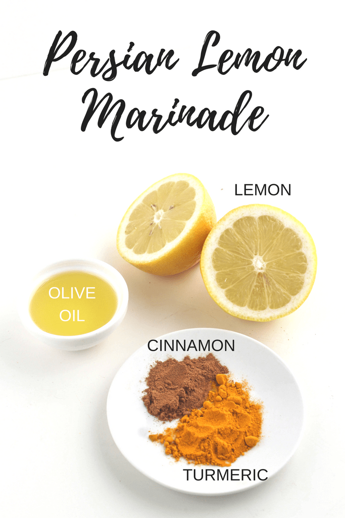 This simple Persian Lemon Marinade is perfect for chicken or tofu! Check out more easy marinade recipes and ideas at fannetasticfod.com!