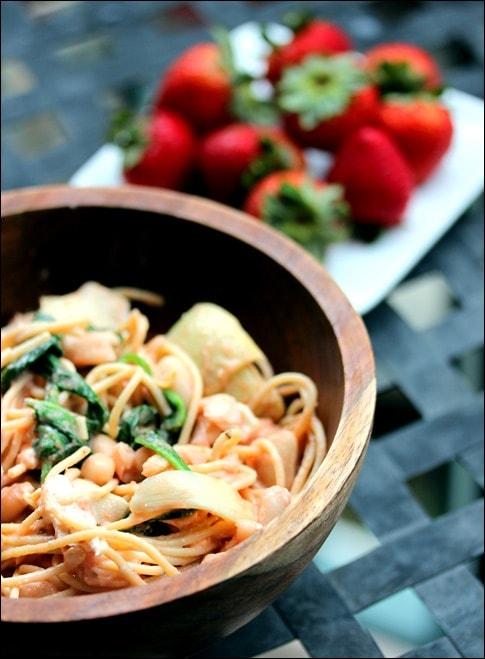 Summer Artichoke & Pesto Pasta Salad