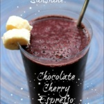Chocolate Cherry Espresso Smoothie