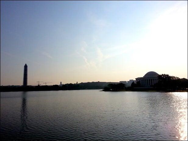early morning tidal basin washington dc