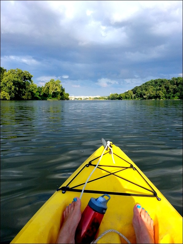 kayaking on the potomac