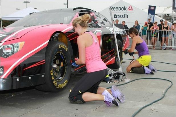 nascar tire change