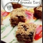 Spiced Cherry Pecan Granola Bars {gluten free}