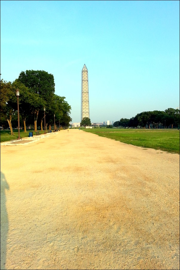 washington monument under repair