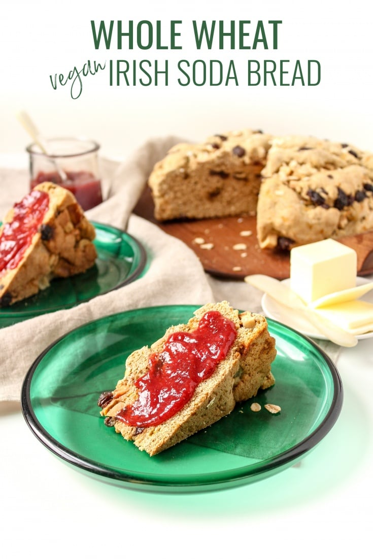 Vegan Whole Wheat Irish Soda Bread Recipe