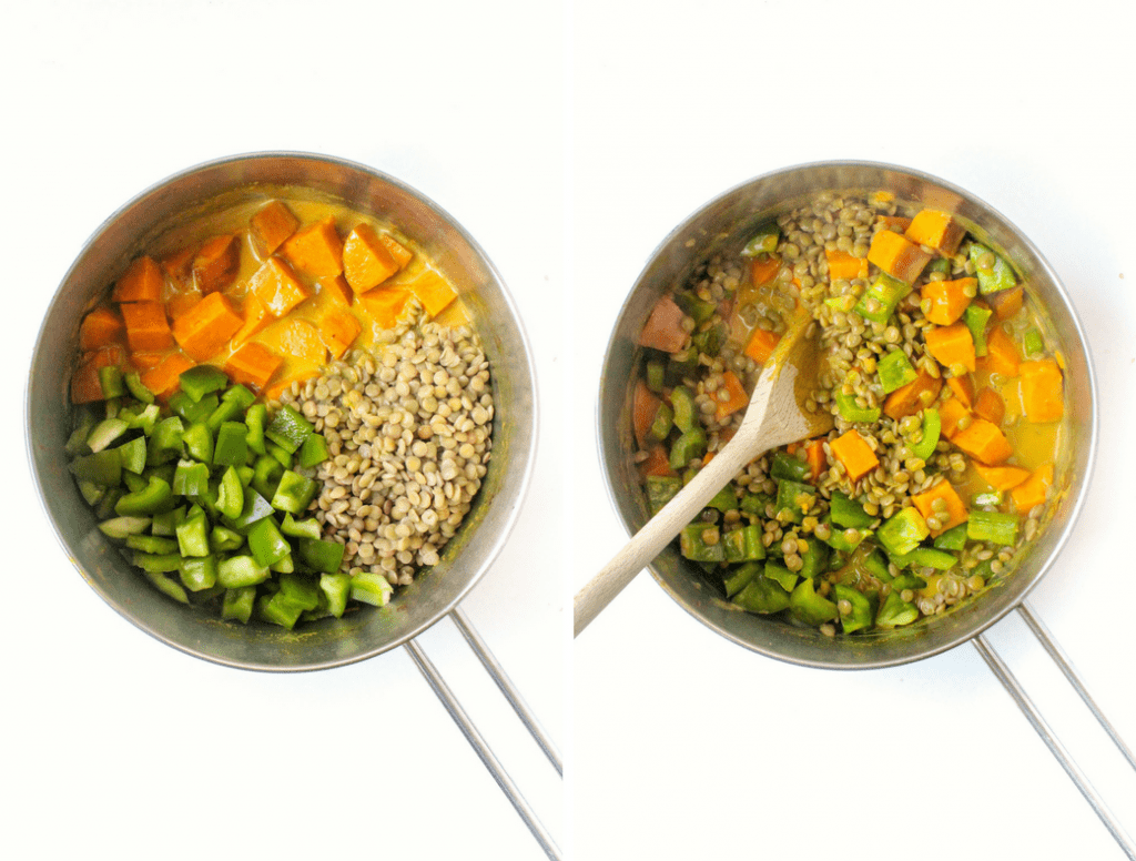 how to make Sweet Potato Lentil Coconut Curry