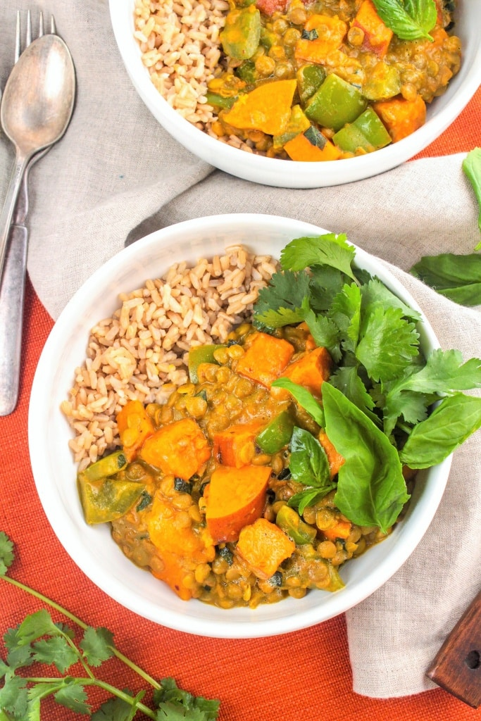 Sweet Potato Lentil Coconut Curry recipe