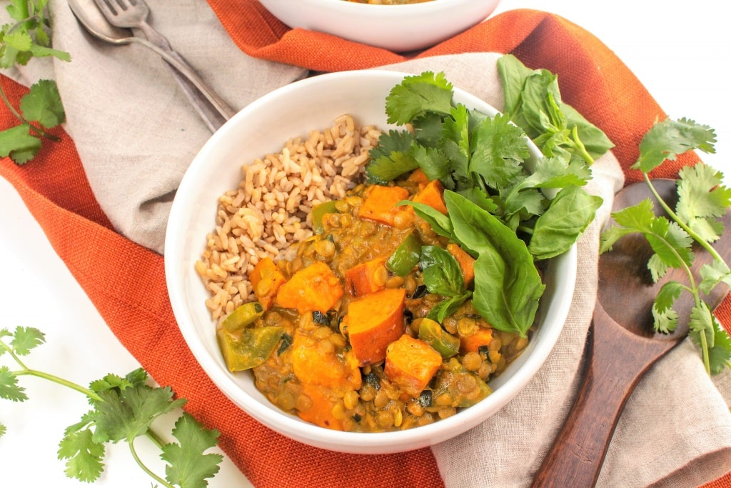 Sweet Potato & Lentil Coconut Curry - fANNEtastic food | Registered Dietitian Blog | Recipes + Healthy Living + Fitness