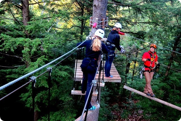 quebec ropes courses