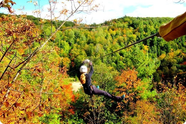 zip lining in quebec