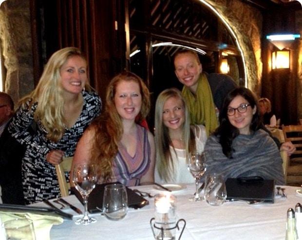dinner at montebello