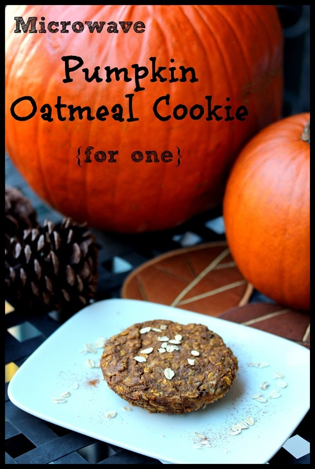 pumpkin oatmeal cookie for one