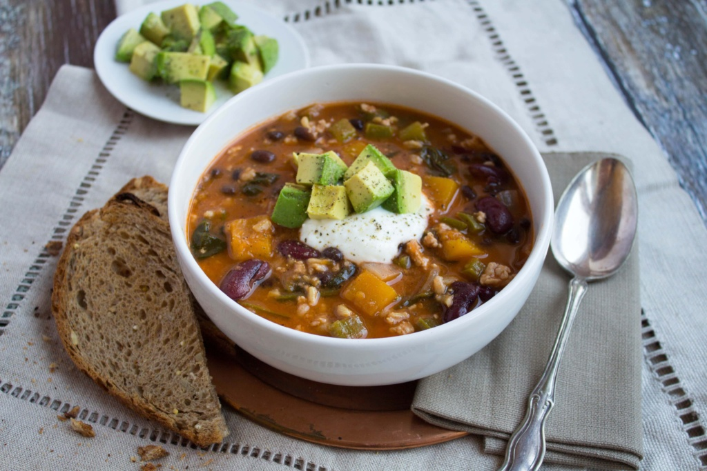 healthy fall squash chili recipe