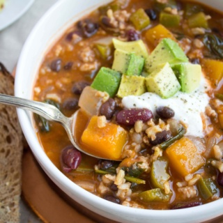butternut squash turkey chili