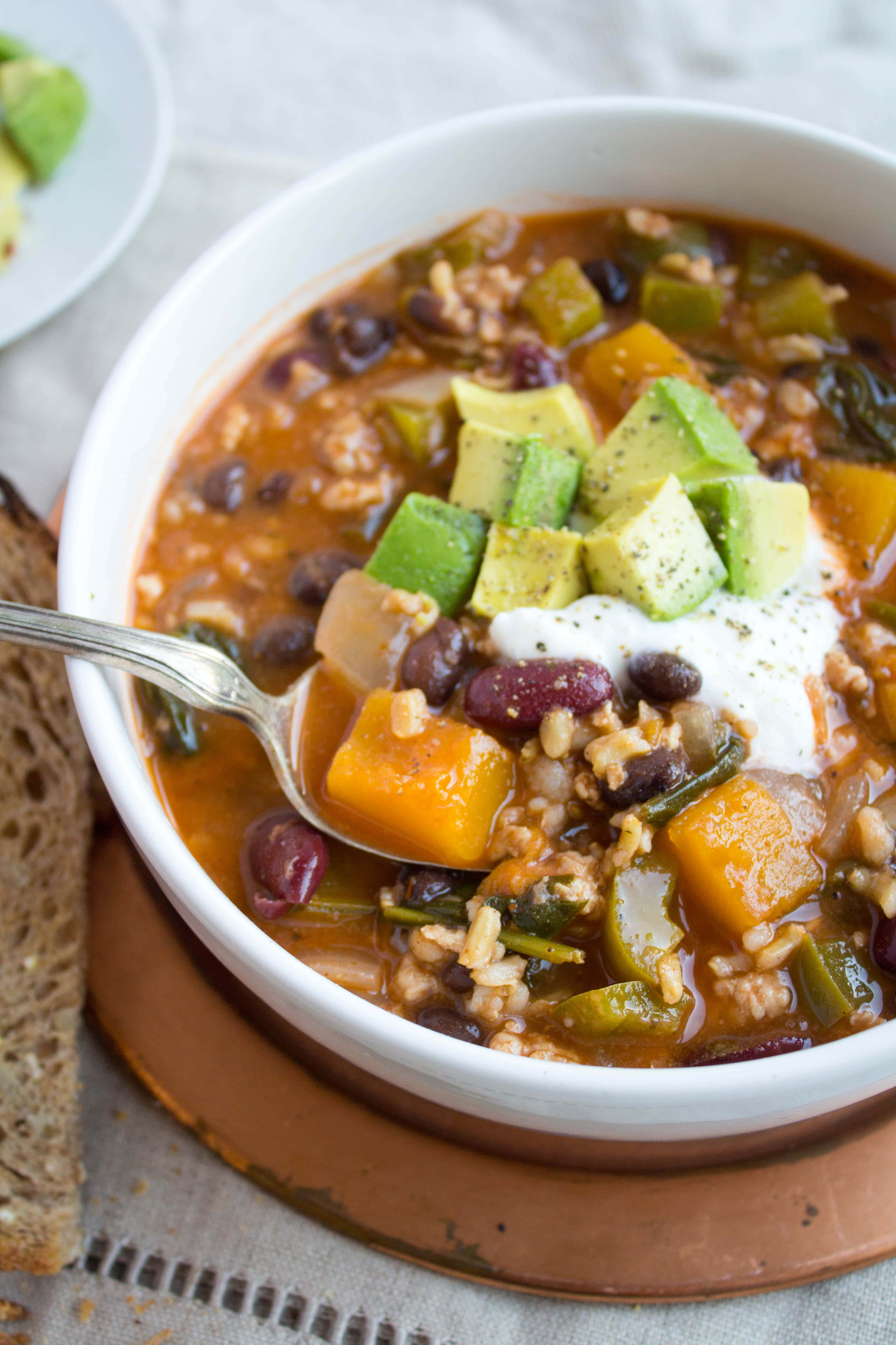 Food 1 2016 4 25 Spinach Butternut Squash Chicken Beef Chili >> Butternut Squash And Turkey Chili Recipe