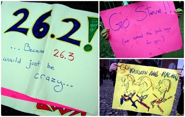 marathon cheering signs