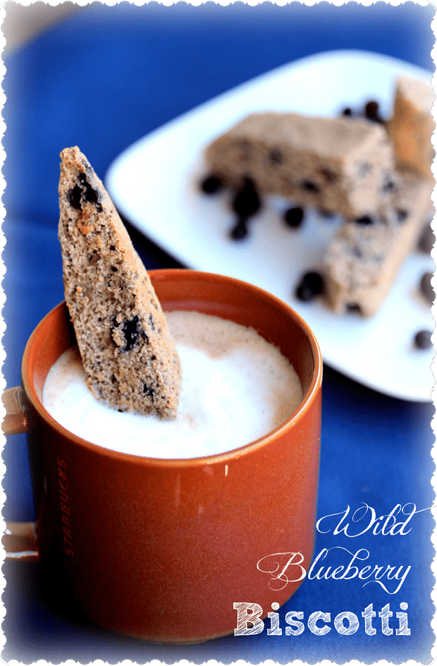 Wild Blueberry Biscotti