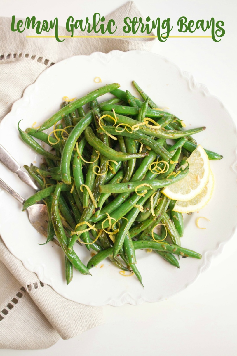 healthy lemon garlic string beans