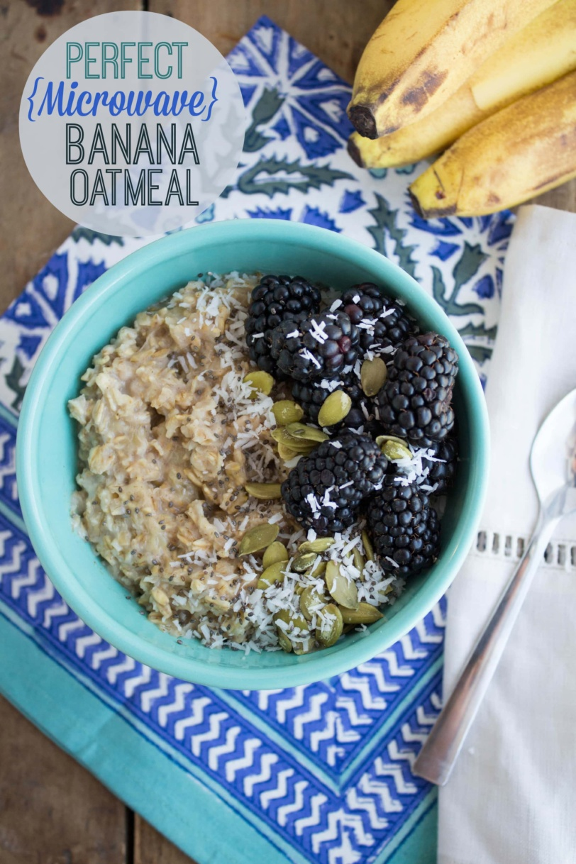 microwave banana oatmeal for a healthy, immunity-boosting breakfast idea