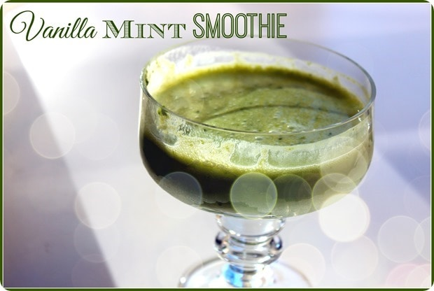 vanilla mint smoothie