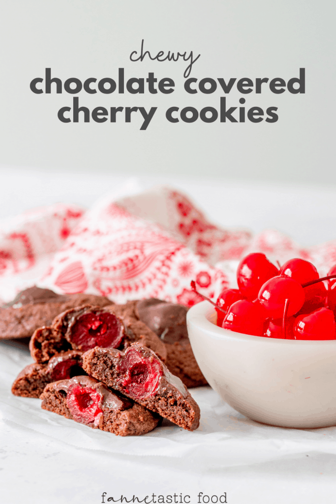 chewy chocolate cherry cookies