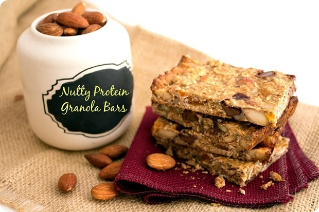 Nutty Protein Granola Bars