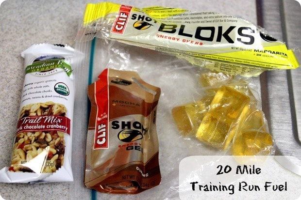 what to eat during a 20 mile run