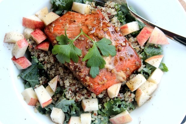 recipes for runners before a race, quinoa recipes for runners, salmon recipes for runners, brooks healthy food recipes