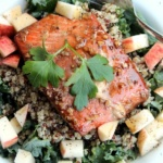 Quinoa & Roasted Salmon Salad for Runners