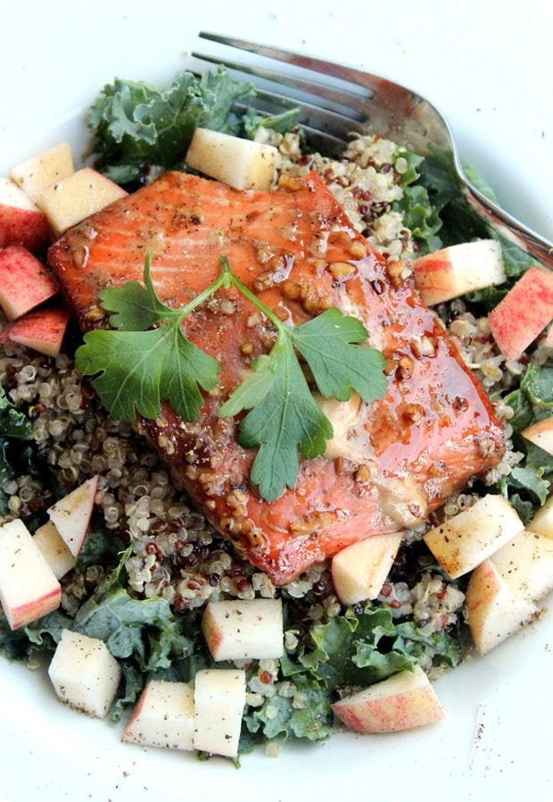 Quinoa & Roasted Salmon Salad for Runners - fANNEtastic food ...