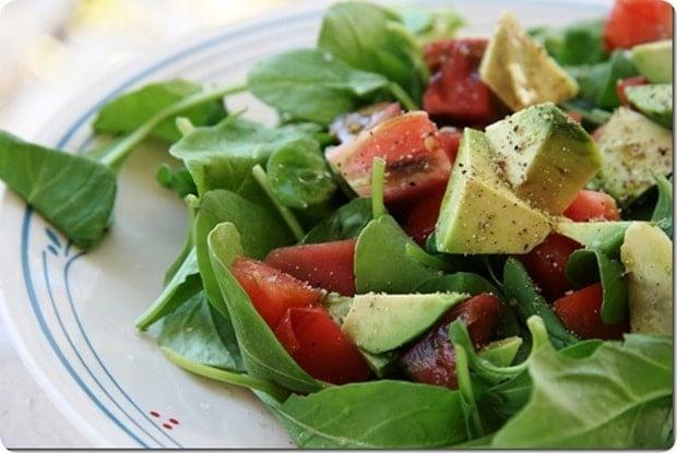 late summer arugula salad