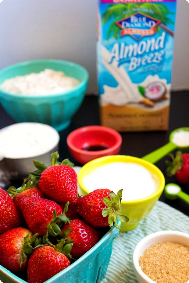 vegan strawberry scones ingredients