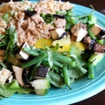 Recent Eats–Ginormous Salad + Taco Night