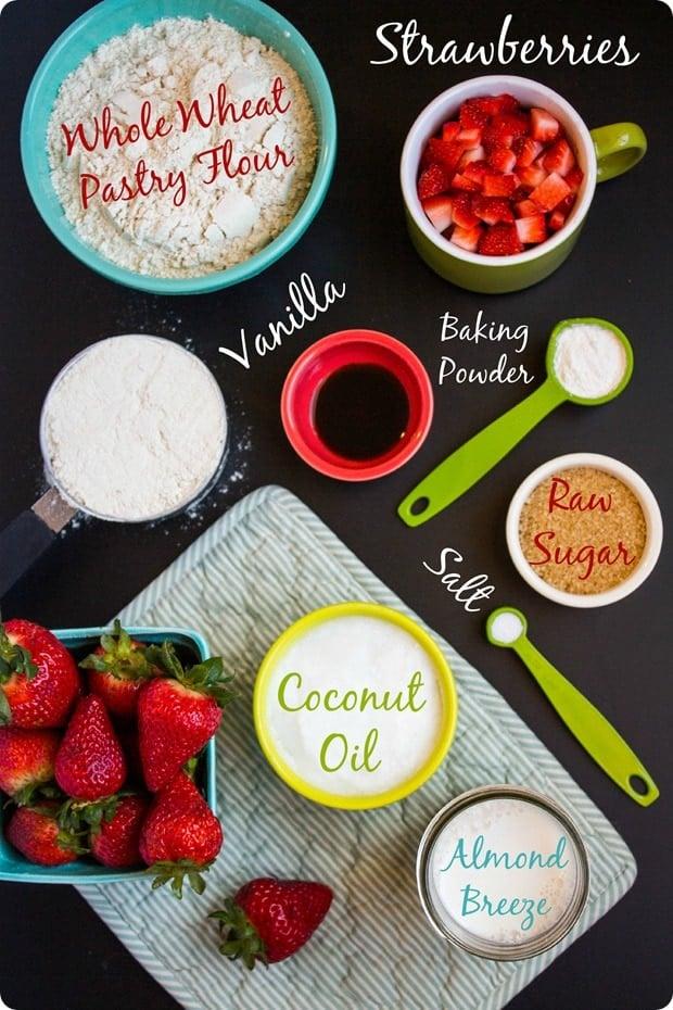 vegan strawberry scone ingredients