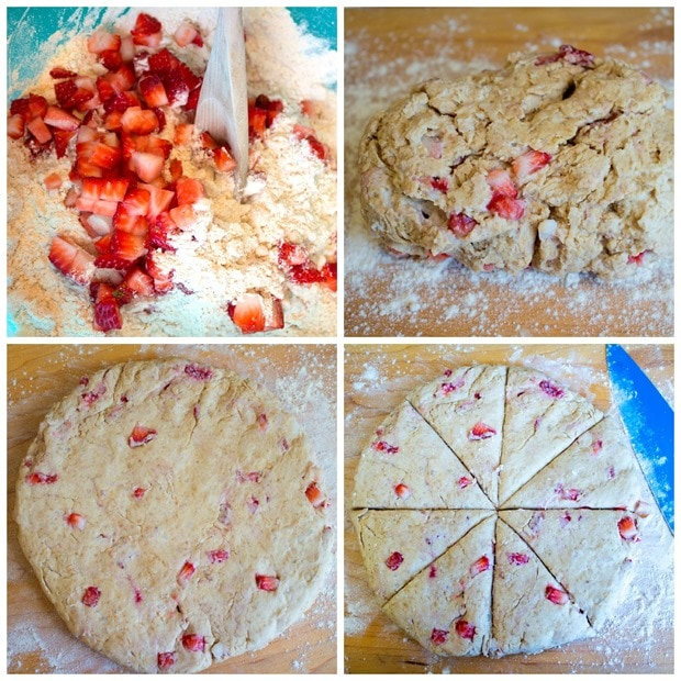how to make vegan strawberry scones