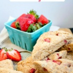 vegan strawberry scones