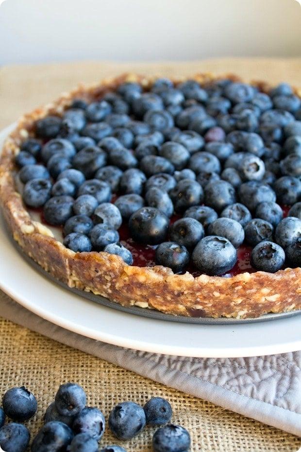 no bake blueberry pie vegan gluten free