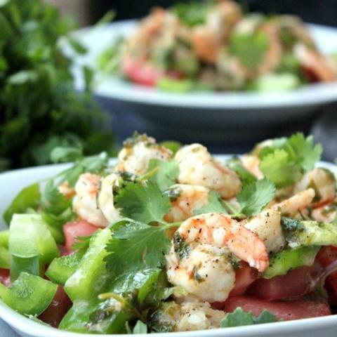 Mexican Shrimp Salad Bowl