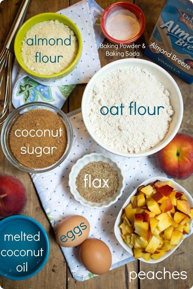 gluten dairy free peach muffins