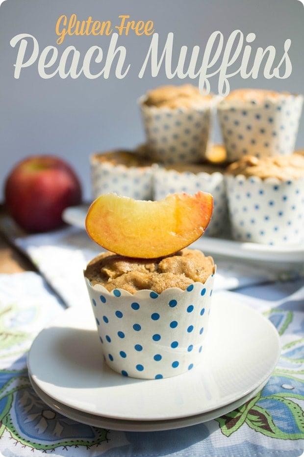 gluten dairy free peach muffins recipe
