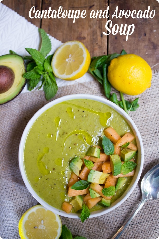 Cantaloupe and avocado soup recipe fannetastic food registered cantaloupe avocado soup recipe forumfinder Gallery
