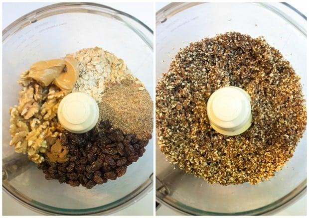 oatmeal raisin energy balls ingredients