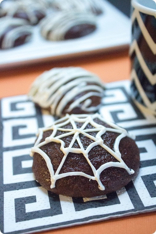 spider web cookies recipe