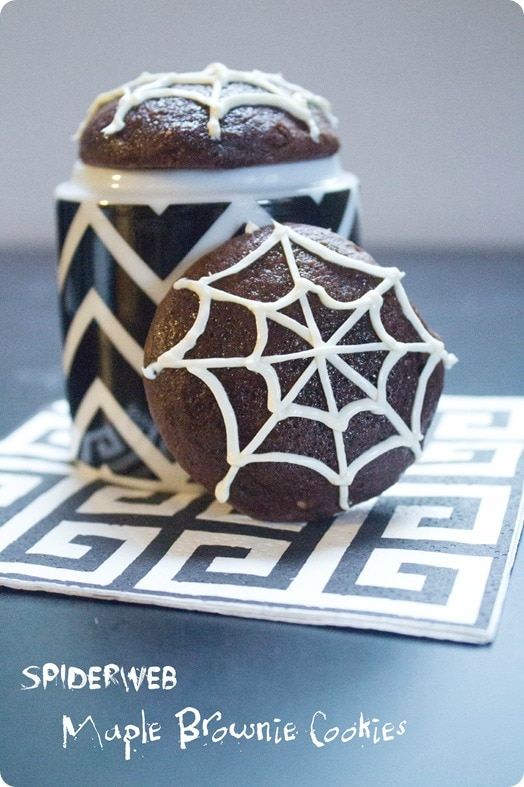 Halloween spiderweb cookies recipe