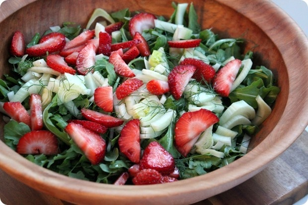 how to make Strawberry and Fennel Barley Salad