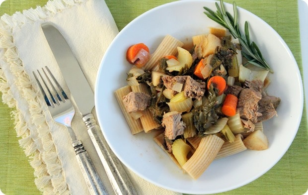 stewed lamb with vegetables recipe
